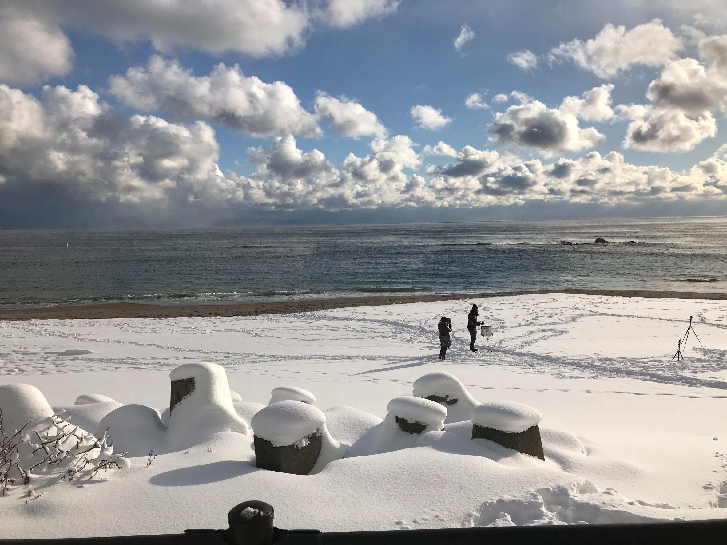 函館 湯川の海岸